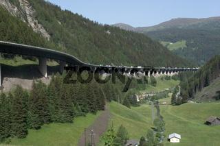 Brennerpass zwischen Österreich und Italien