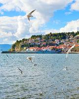 Ohrid lake scene, Macedonia