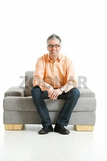 Man sitting on couch