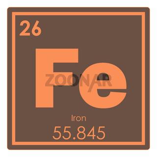 Iron chemical element