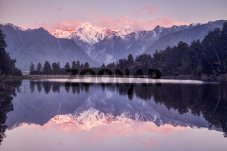 Sunset, Lake Matheson