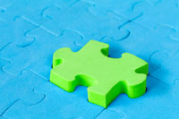 Jigsaw puzzle close-up