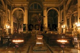 Interior Chiesa di S. Moise in Venice