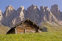 Auf dem Grödner Joch in Südtirol