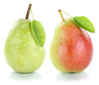 Birnen Birne Frucht grün frisch Obst Freisteller freigestellt isoliert