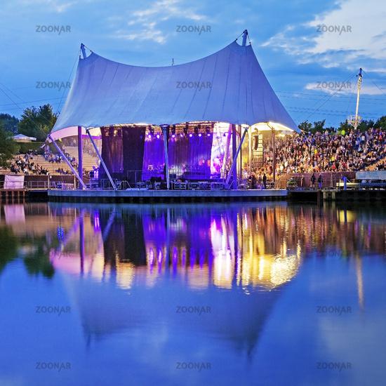 event at the amphitheater of Nordsternpark, Rhein-Herne-Kanal, Gelsenkirchen, Germany