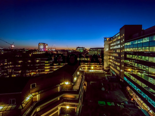 Nightfall over London