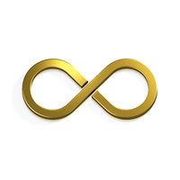 Infinite Gold Symbol. 3D Render Illustration