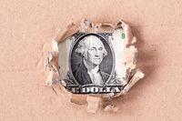 Dollar in hole