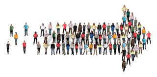 Leute People Menschen Gruppe Richtung Pfeil Erfolg Organisation Team Teamwork