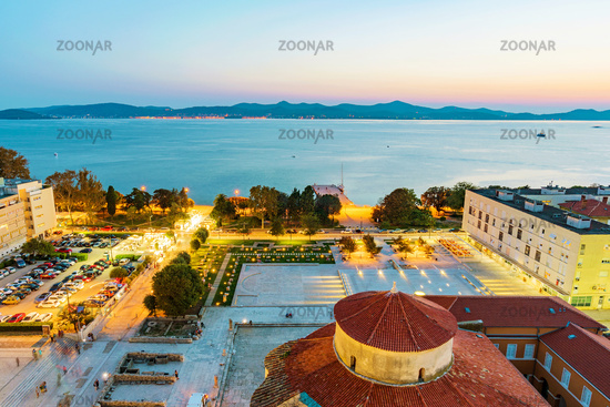 Old town Zadar in the evening
