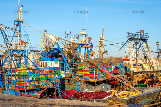 Finish boats in Essaouira port