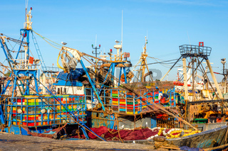 Finish boats in Essaouira port