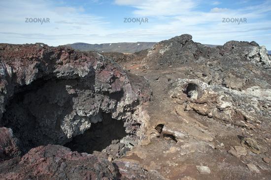 area of lava