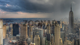 Thunderstorm over Manhattan