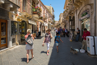 Corso Umberto - street in Taormina