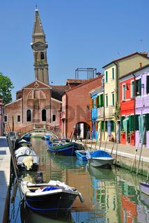 Burano in der Lagune von Venedig