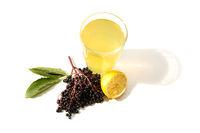 Natural Lemonade with elder berries