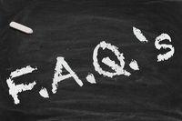 FAQ Chalkboard