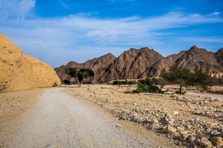 Hot winter in the desert near Red Sea