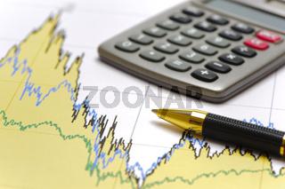 Finanzen und Kalkulation mit Chart und Tabelle