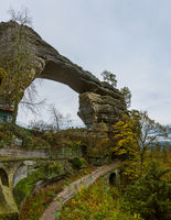 Pravcicka brana rock in Bohemian switzerland - Czech republic