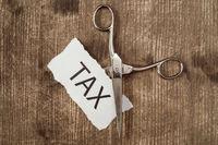 Cut taxes, business conceptual