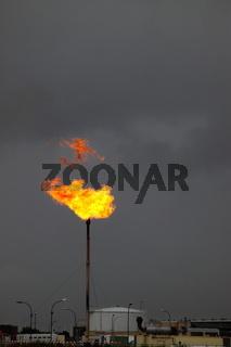 Gas Verbrennung