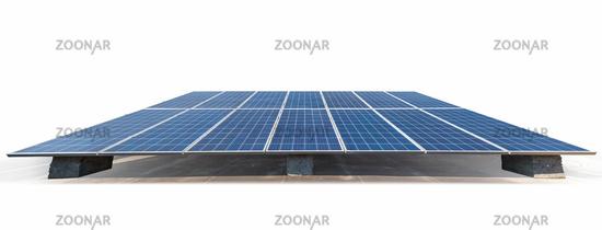 solar energy panels isolated