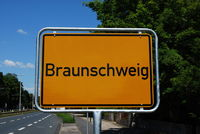 Ortsschild Braunschweig