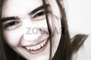 lachende junge Frau