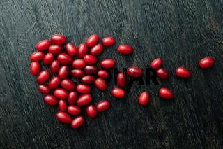 Dogwood berries as a broken heart