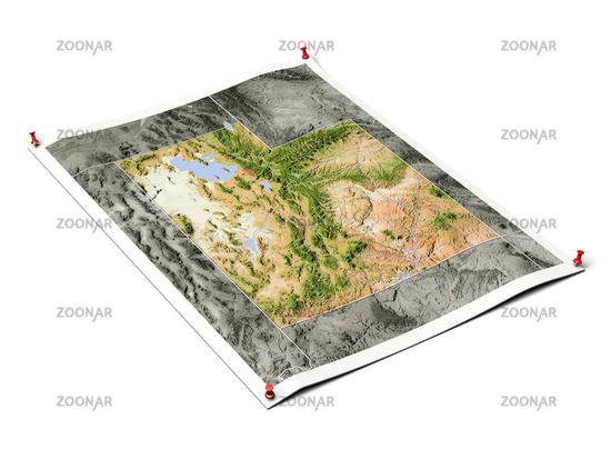 Utah on unfolded map sheet.