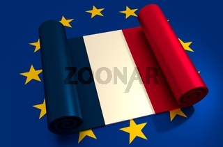 France and European Union relationships. Nexit metaphor