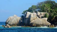 Granite Rocks  at Seychelles Coco Island