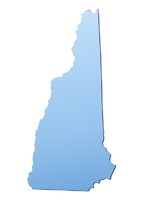 New Hampshire(USA) map