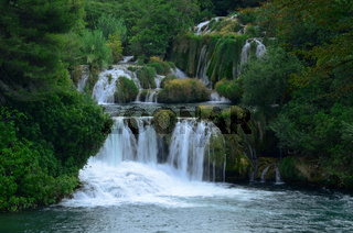 Skradinski buk, Wasserfall im KRKA Nationalpark in Kroatien,