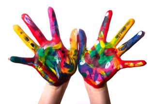 zwei bunte Hände V3