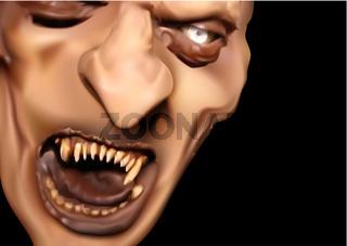 Satan Face with Scary Teeth