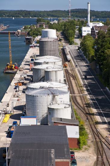 Port on the Kiel Canal