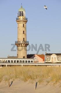 Alter Leuchtturm Warnemuende, old lighthouse, Ostsee, Deutschland, Warnemuende, Baltic Sea, Germany