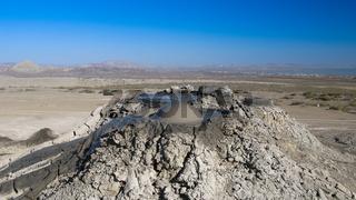 Bursting the bubble mud volcanoes, Gobustan Azerbaijan