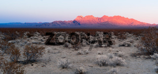 Providence Mountains Fountain Peak Mojave Panoramic Desert Landscape
