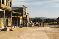 A typical old western town is a movie set in rural part of New Mexico, USA