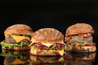 Burgers On Black Glass