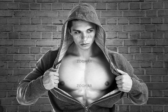 A well trained young Bodybuilder Portrait