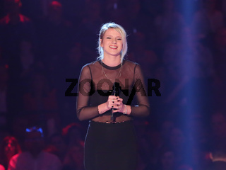 deutsche ESC Teilnehmerin 2017 Sängerin Levina in der ARD TV-Show Schlager Countdown in Oldenburg am 25.03.2017