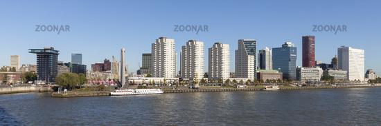 High buildings and Erasmusbridge Rotterdam