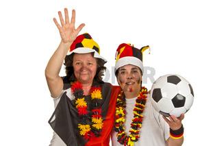 Weibliche Fussballfan