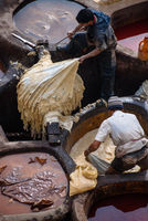 Old tannery in Fez, Morocco